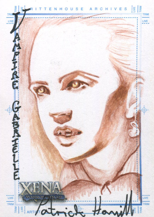Xena Art & Images Sketch Card by Patrick Hamill Vampire Gabrielle   - TvMovieCards.com