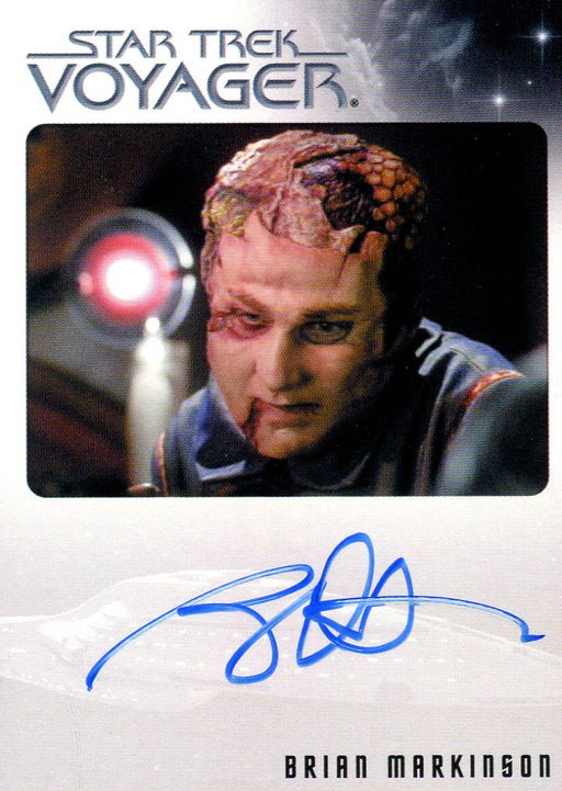 Star Trek Voyager Heroes & Villains Autograph Card Brian Markinson as Sulan   - TvMovieCards.com