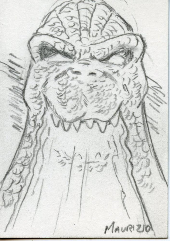 GODZILLA: KING OF THE MONSTERS Sketch Card by Maurizio #1