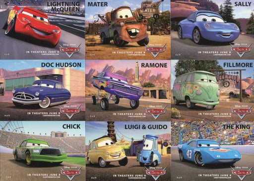 Disney Pixar Cars Movie Promo Card Set 9 Cards   - TvMovieCards.com