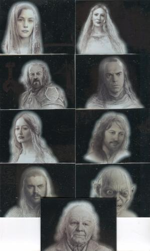 Lord of the Rings Masterpieces Series Two Silver Foil Chase Card Set 9 Cards   - TvMovieCards.com