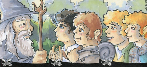 Lord of the Rings Sketch Card Panel Commissioned by Amy Pronovost 3 Cards   - TvMovieCards.com