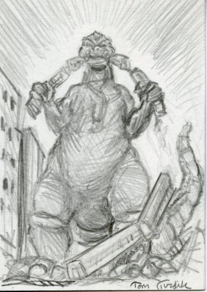 GODZILLA: KING OF THE MONSTERS Sketch Card by Tom Turdik