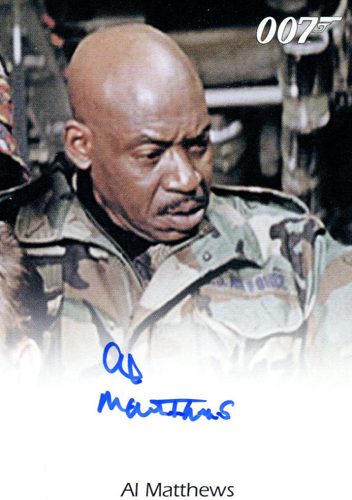 James Bond 50th Anniversary Series One Al Matthews Autograph Card   - TvMovieCards.com