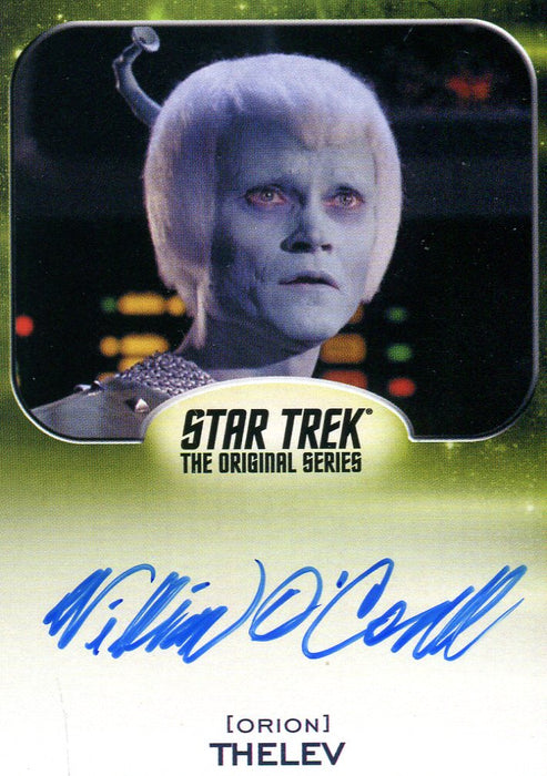 Star Trek Aliens William O'Connell as Thelev Autograph Card   - TvMovieCards.com