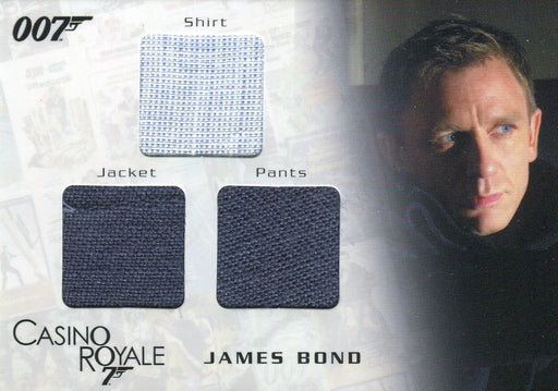 James Bond in Motion 2008 James Bond Triple Costume Card TC01 #0628/1300   - TvMovieCards.com