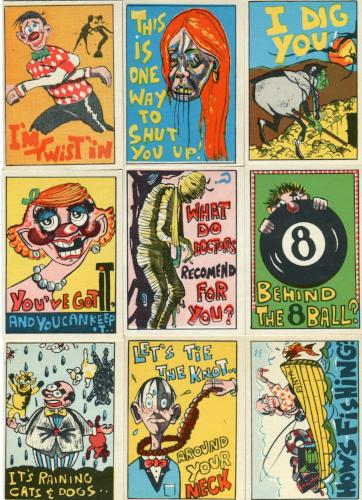 Loony Series 2 Vintage Card Set 66 Cards Abby Vending 1963   - TvMovieCards.com