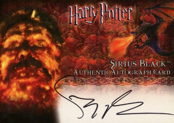 Harry Potter and the Goblet of Fire Gary Oldman Autograph Card Front2