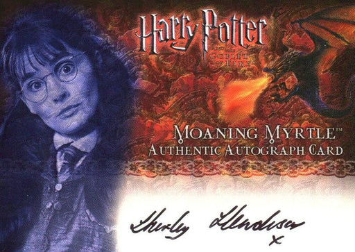 Harry Potter and the Goblet of Fire Shirley Henderson Autograph Card   - TvMovieCards.com