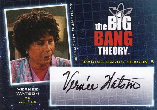 Big Bang Theory Season 5 Vernee Watson as Althea Autograph Card A13   - TvMovieCards.com