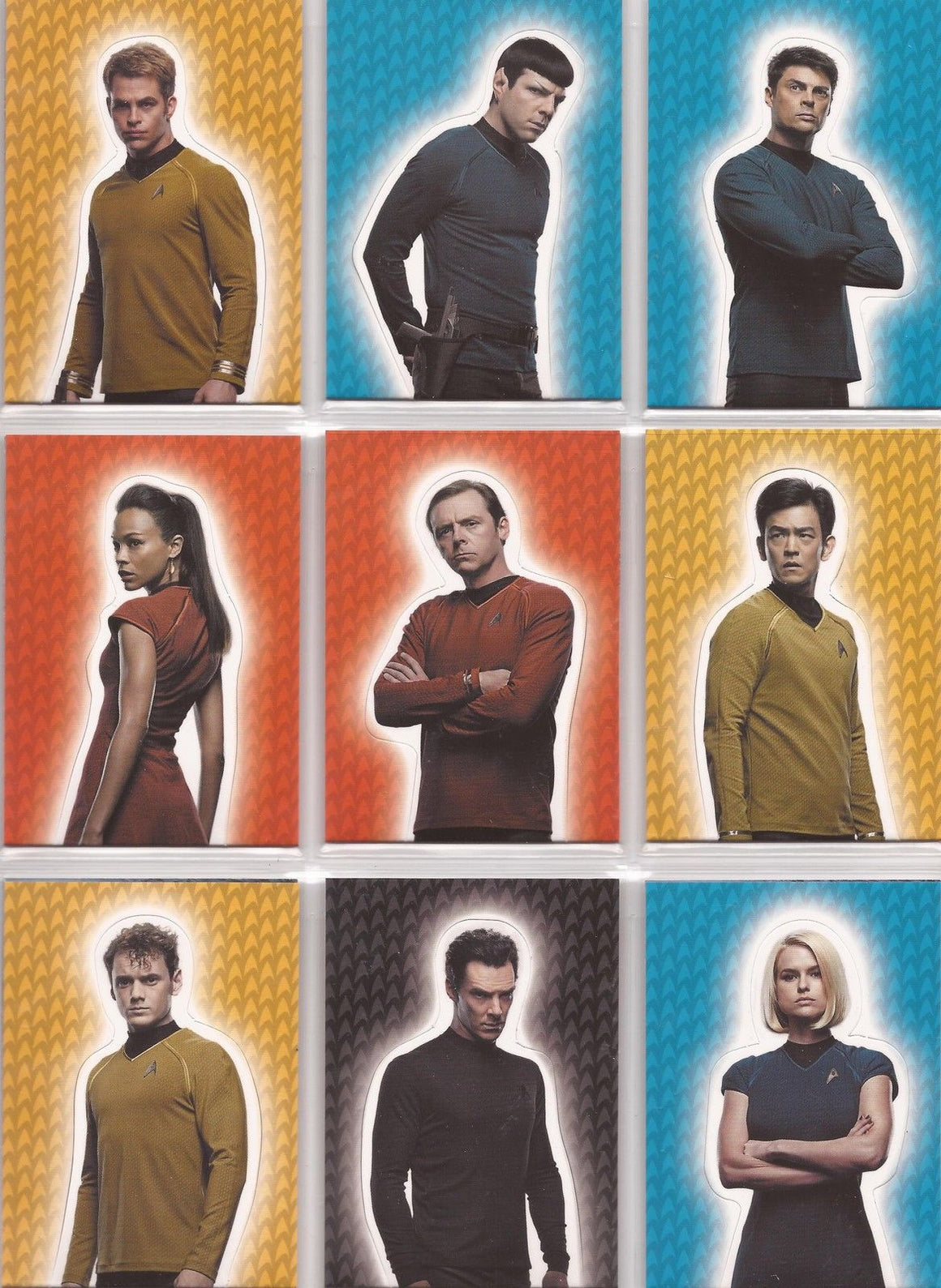 Star Trek Movies Into Darkness 2014- Set of 9 'Foldout' Chase Cards #F1-F9