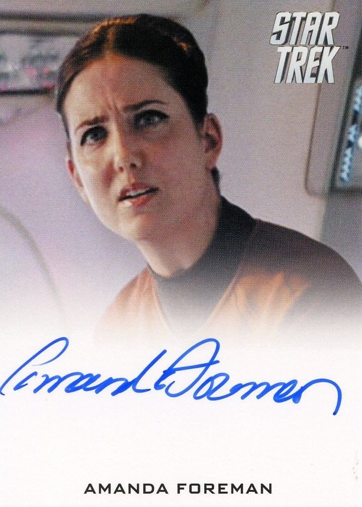 STAR TREK Movie Into Darkness 2014 Autograph Card Amanda Foreman Hannity