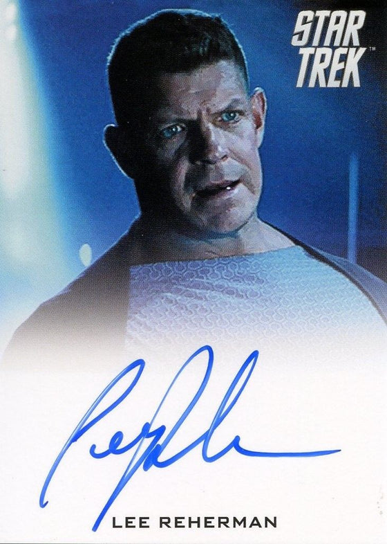 STAR TREK Movie Into Darkness 2014 Autograph Card Lee Reherman Security Officer