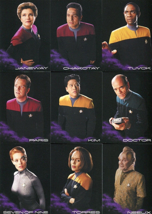 Star Trek Voyager Heroes & Villains 9 Card Black Gallery Chase Card Set BB1-9   - TvMovieCards.com