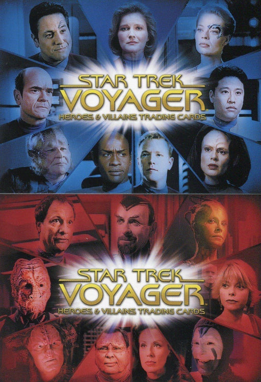 Star Trek Voyager Heroes & Villains Case Topper Chase Card Set 2 Cards CT1 CT2   - TvMovieCards.com