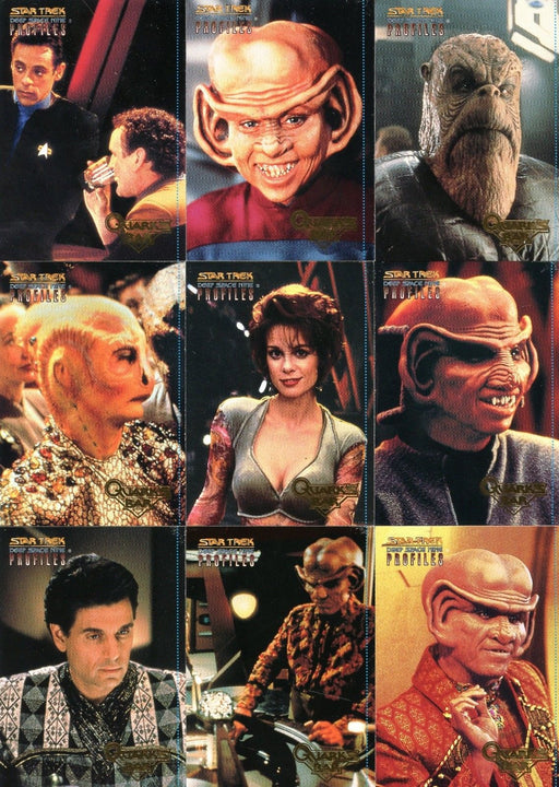 Star Trek Deep Space Nine DS9 Profiles Quark's Bar Quotes Chase 9 Card Set   - TvMovieCards.com