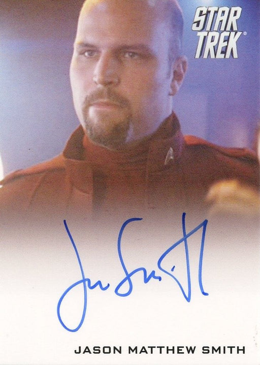 STAR TREK Movie Into Darkness 2014 Autograph Card Jason Matthew Smith Cadet   - TvMovieCards.com