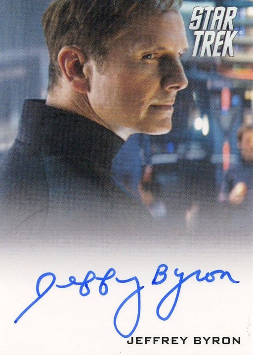 STAR TREK Movie Into Darkness 2014 Autograph Card Jeffrey Byron Test Admin   - TvMovieCards.com