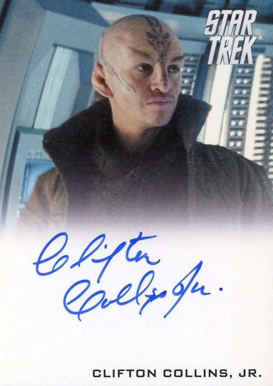 STAR TREK Movie Into Darkness 2014 Autograph Card Clifton Collins Ayel