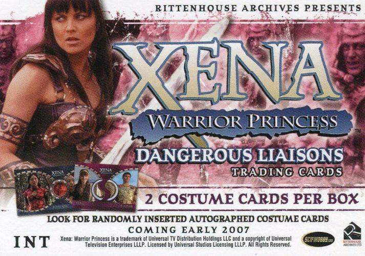 Xena Dangerous Liaisons Promo Card INT   - TvMovieCards.com