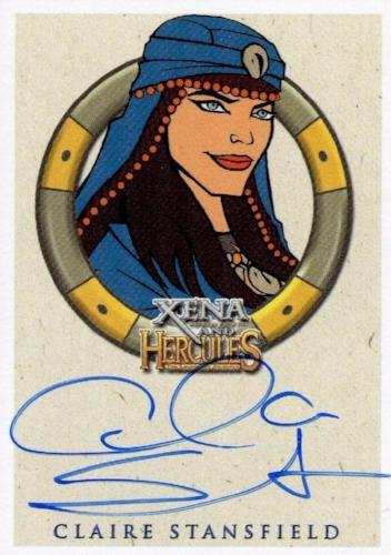Xena & Hercules Animated Adventures Claire Stansfield Alti Autograph Card Front