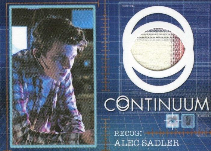 Continuum Seasons 1 & 2 Alec Sadler Costume Card CC7 #016/125 Front