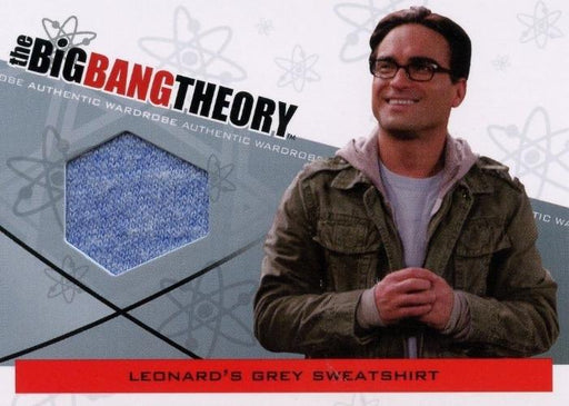 Big Bang Theory Seasons 3 & 4 Leonard's Sweatshirt Wardrobe Costume Card M-15   - TvMovieCards.com