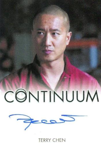Continuum Seasons 1 & 2 Terry Chen as Curtis Chen Autograph Card Front