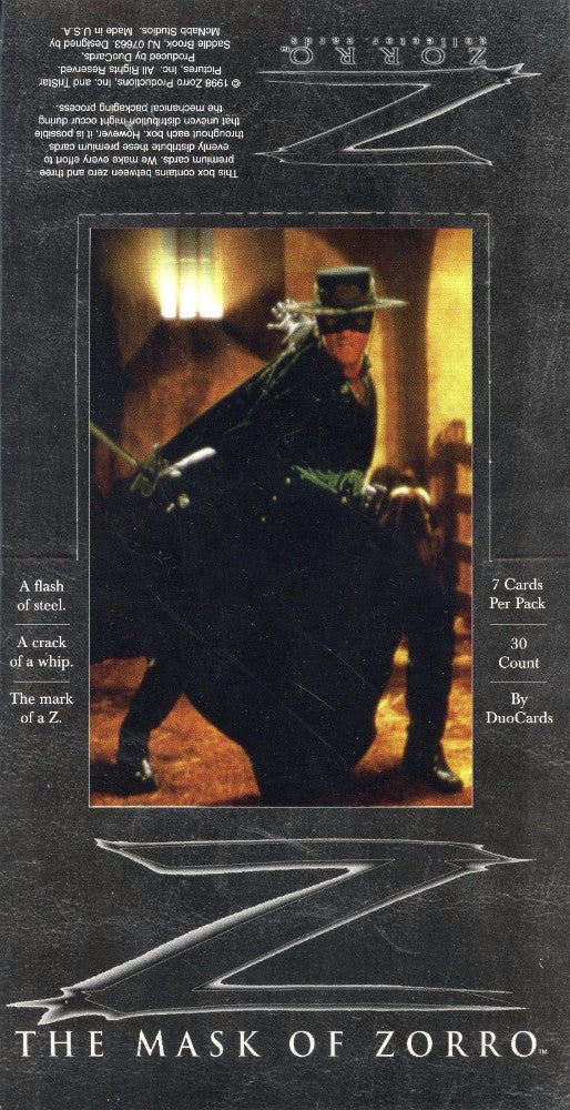 Zorro The Mask of Zorro Movie Card Box