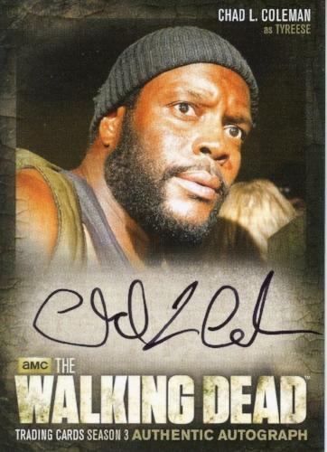 Walking Dead Season 3 Part 2 Chad L. Coleman as Tyreese Autograph Card A18   - TvMovieCards.com