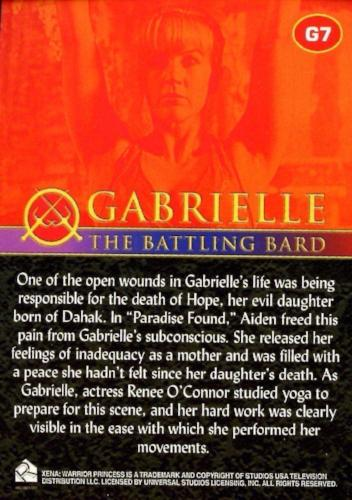 Xena Seasons 4 and 5 Gabrielle The Battling Bard Chase Card G7   - TvMovieCards.com