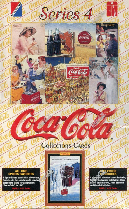 Coca Cola Series Four Card Box   - TvMovieCards.com