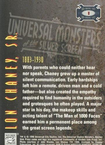 Universal Monsters of the Silver Screen Bio-Chrome Chromium Chase Card #1   - TvMovieCards.com
