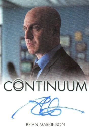 Continuum Seasons 1 & 2 Brian Markinson as Inspector Dillon Autograph Card Front