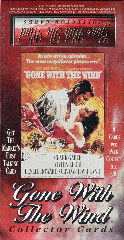 Gone With The Wind Movie Card Box   - TvMovieCards.com