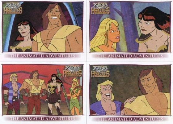 Xena & Hercules Animated Adventures Promo Card Set 4 Cards Front