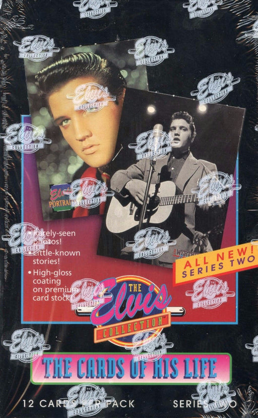 Elvis Presley Series Two Trading Card Box - 1992 River Group   - TvMovieCards.com