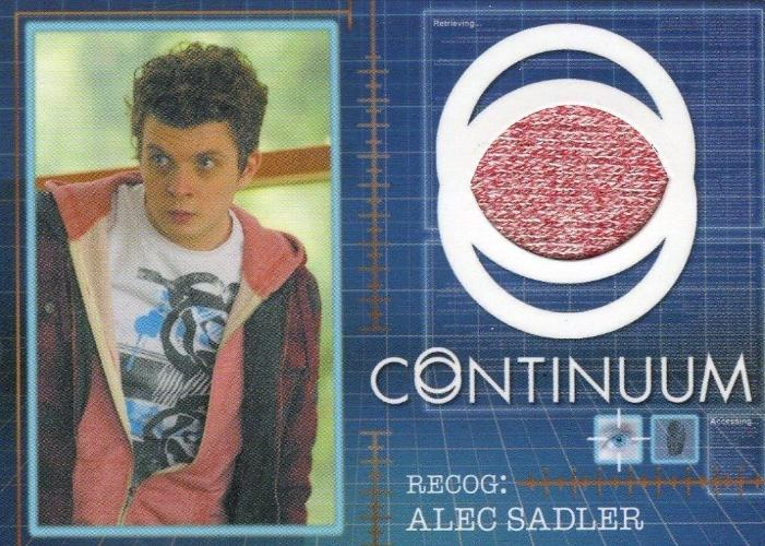 Continuum Seasons 1 & 2 Alec Sadler Costume Card CC15 #124/125 Front