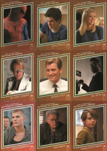 Spider-Man The Amazing Spider-Man Movie Character & Costume Card Set   - TvMovieCards.com