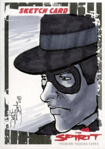 Spirit The Spirit Sketch Card by Jeff Zugale SK-3   - TvMovieCards.com