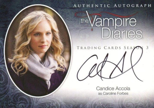 Vampire Diaries Season Three Candice Accola as Caroline Forbes Autograph Card A7   - TvMovieCards.com