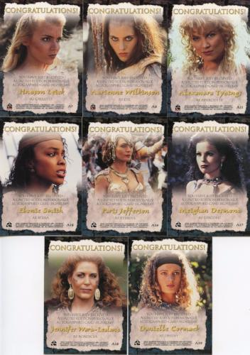 Xena Season Six Autograph Card Lot 8 Cards   - TvMovieCards.com