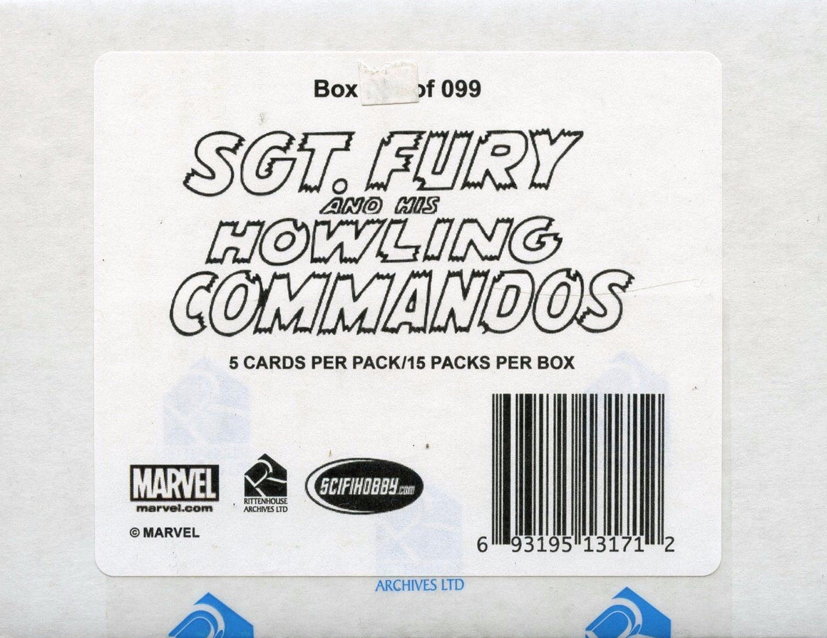 Sgt. Fury and His Howling Commandos 50th Anniversary Premium Packs Card Box