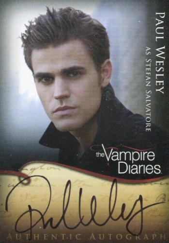 Vampire Diaries Season One Paul Wesley as Stefan Salvatore Autograph Card A2   - TvMovieCards.com