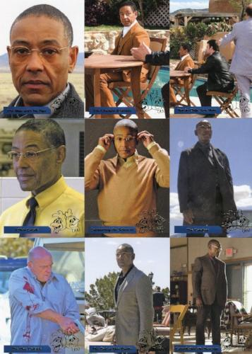 Breaking Bad Seasons 1-5 Los Pollos Hermanos Chase Card Set 9 Cards Front