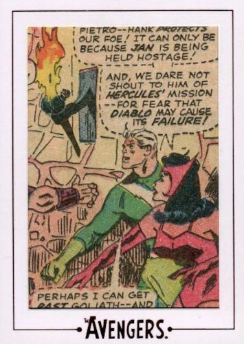 Avengers The Silver Age Comic Archive Cuts Chase Card AV42 #80/153   - TvMovieCards.com