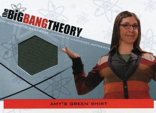 Big Bang Theory Seasons 3 & 4 Amy's Green Shirt Wardrobe Costume Card M-06   - TvMovieCards.com