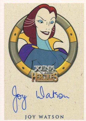 Xena & Hercules Animated Adventures Joy Watson Hera Autograph Card   - TvMovieCards.com