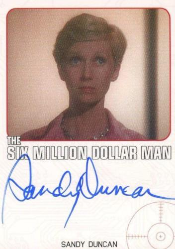 Bionic Collection Six Million Dollar Man Sandy Duncan Autograph Card   - TvMovieCards.com