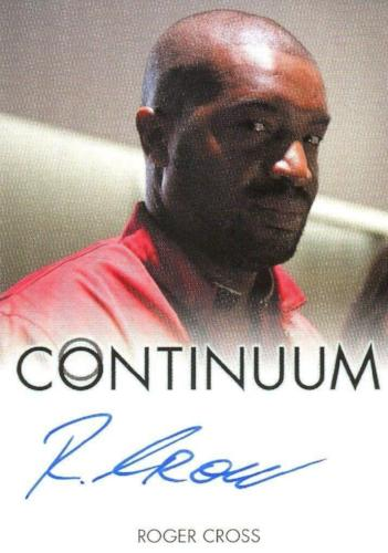 Continuum Seasons 1 & 2 Roger Cross as Travis Verta Autograph Card Front